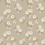 Lewis & Irene Flo's Wildflowers - 5441 - Daisies on Beige - FLO12.1 - Cotton Fabric